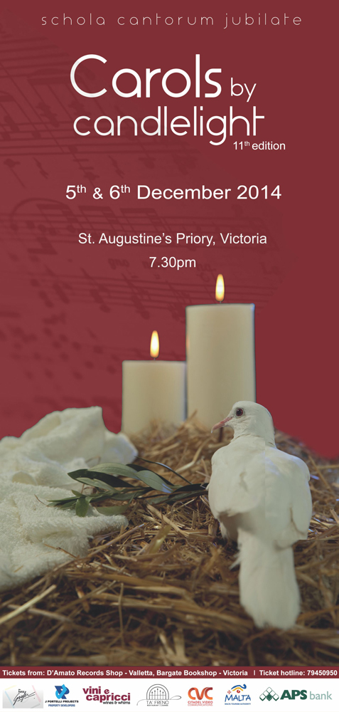 Poster of Carols by Candlelight 11th Edition with details of when and where this event will take place
