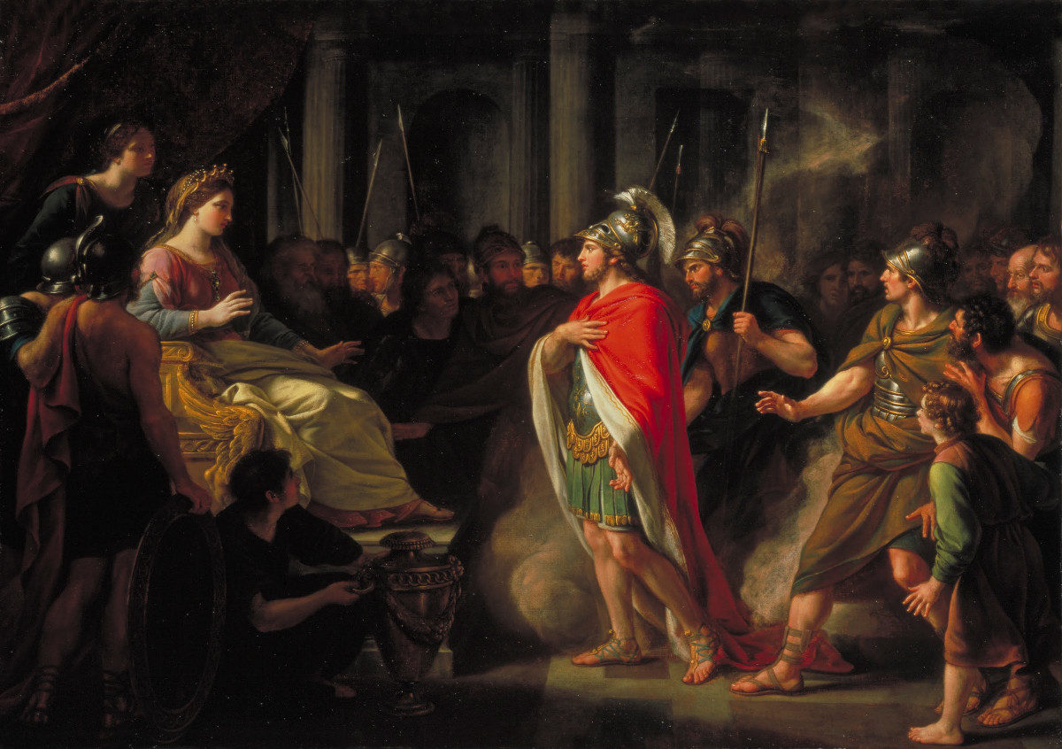 Paining of Dido and Aeneas by Nathaniel Dance-Holland