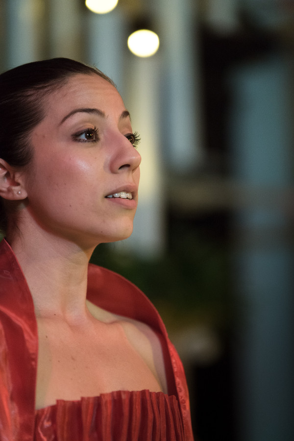 Photo of Marouska Attard Singing at Carols by Candlelight 11th Edition
